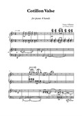 Cotillon Valse for piano 4 hands