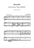 Barcarolle from the opera 'Tales of Hoffman' for piano 4 hands